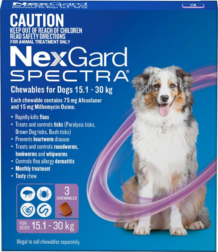 NexGard Spectra Chewables For Large Dogs (15.1 to 30kg) X 3