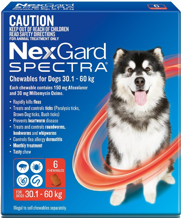 NexGard Spectra Chewables For Extra Large Dogs (30.1 to 60kg) X 6