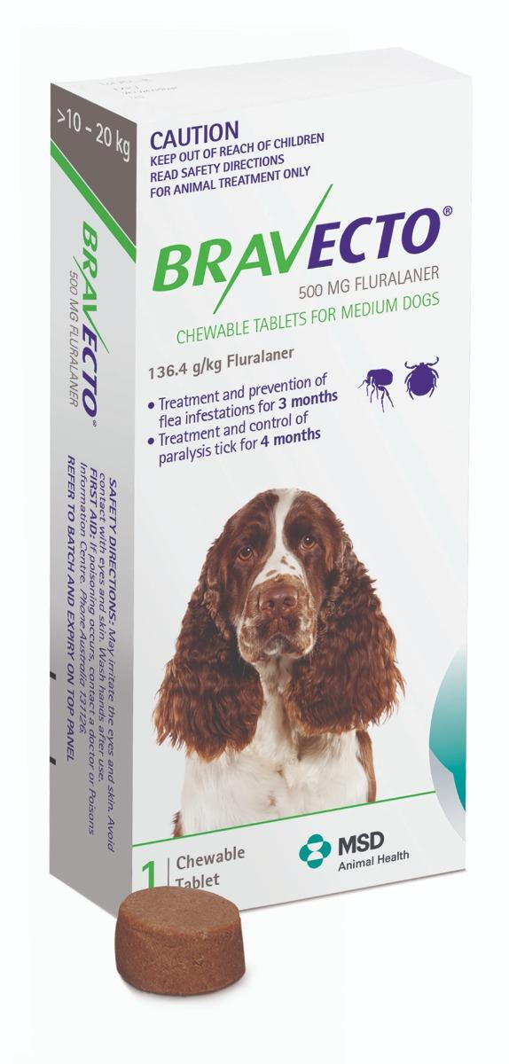 Bravecto Chewable Tab For Medium Dogs (10 to 20kg) X 1