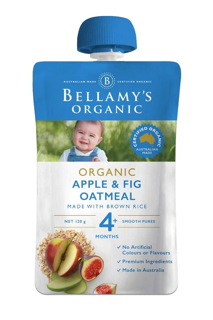 Bellamy's Organic Apple & Fig Oatmeal 120g