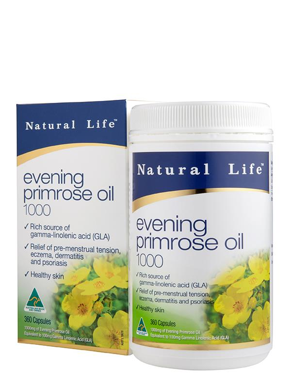Natural Life Evening Primrose Oil 1000mg Cap X 360