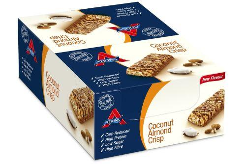 Atkins Advantage Coconut Almond Crisp Bar 60g X 15