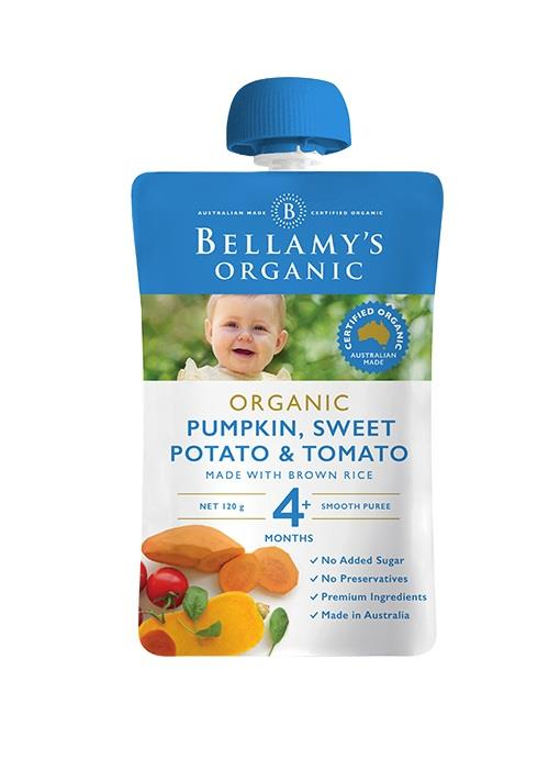 Bellamy's Organic Pumpkin, Sweet Potato & Tomato 120g