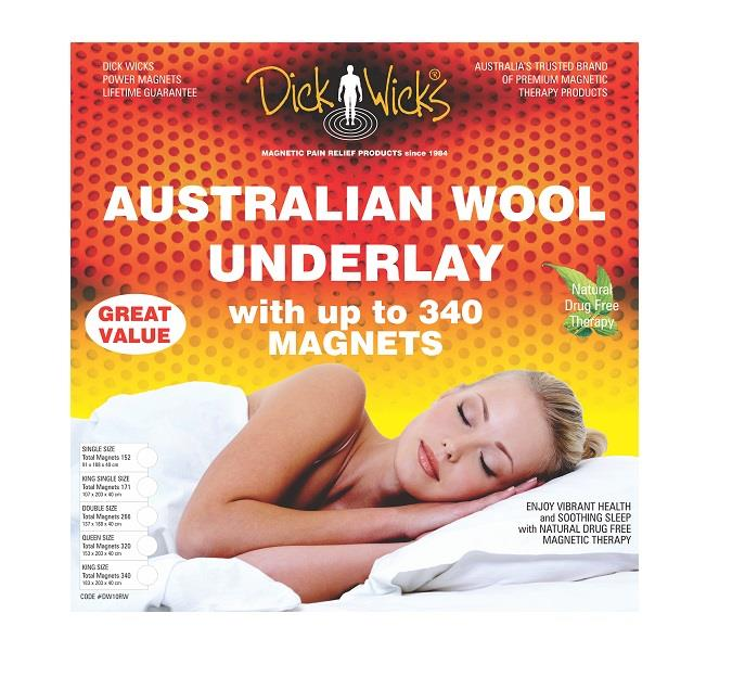 Dick Wicks Regular Wool Magnetic Underlay (Queen Size)