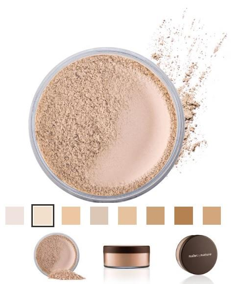 Nude By Nature Natural Mineral Cover Foundation – Light Skin Tones 15g