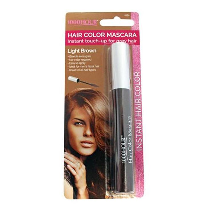 1000 Hour Hair Color Mascara Light Brown 7g