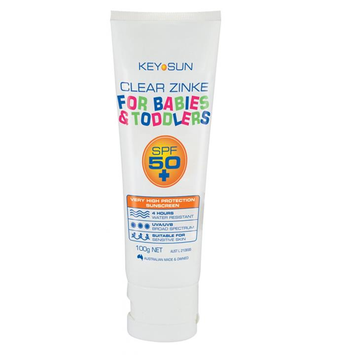 Key Sun Clear Zinke for Babies & Toddlers SPF 50+ 100g