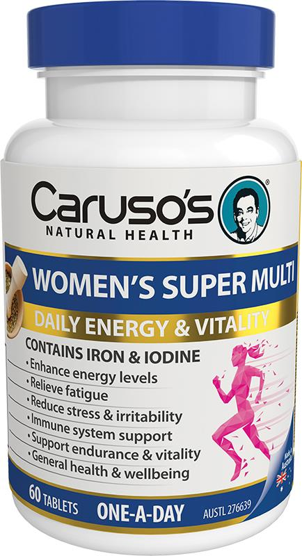 Caruso's Natural Health Women's Super Multi One A Day Tab X 60