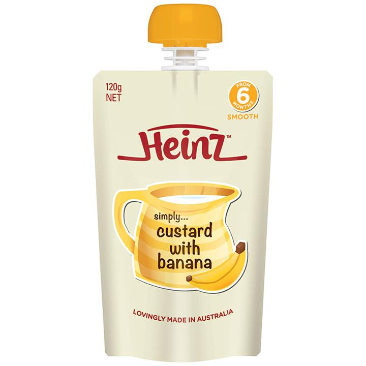 Heinz Custard with Banana Pouch 120g