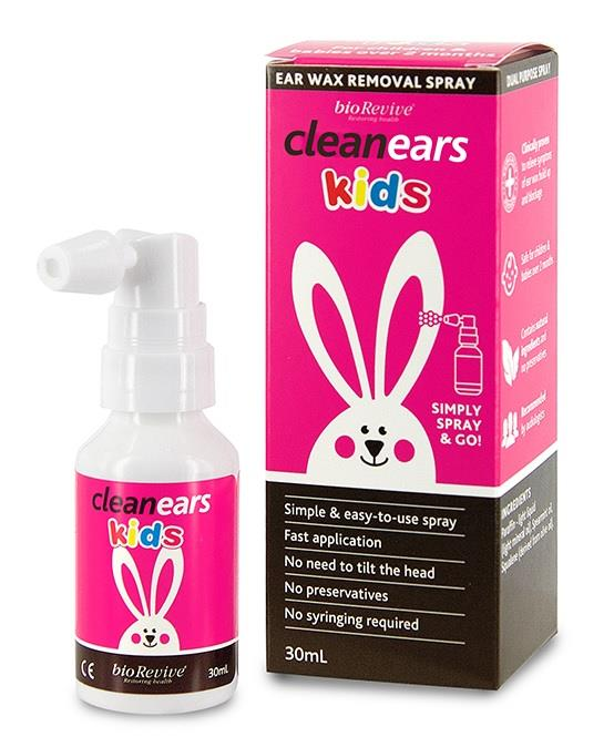 CleanEars Kids Ear Wax Removal Spray 30ml