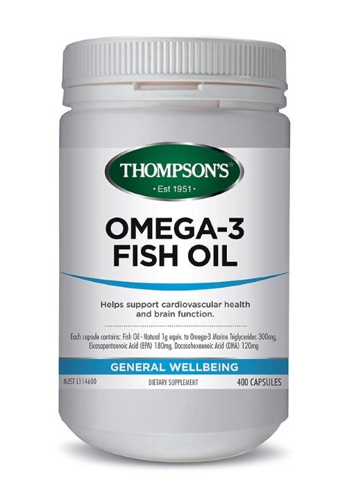 Thompson's Fish Oil 1000mg Cap X 400