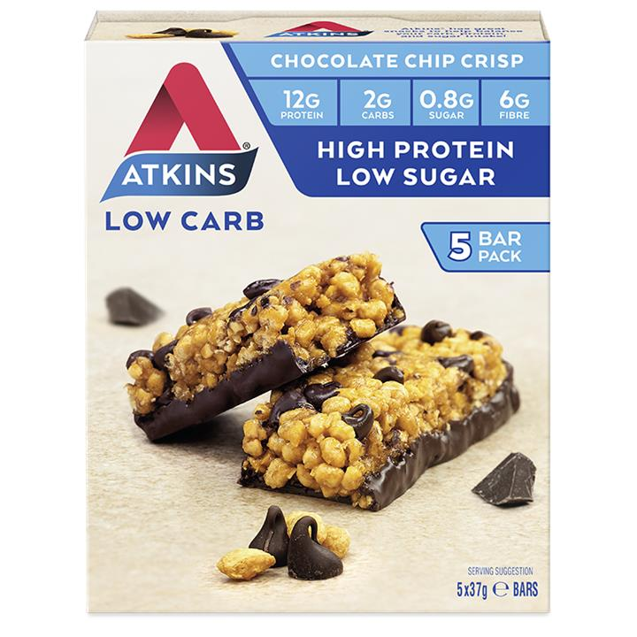 Atkins Day Break Bar Chocolate Chip Crisp 35g X 5