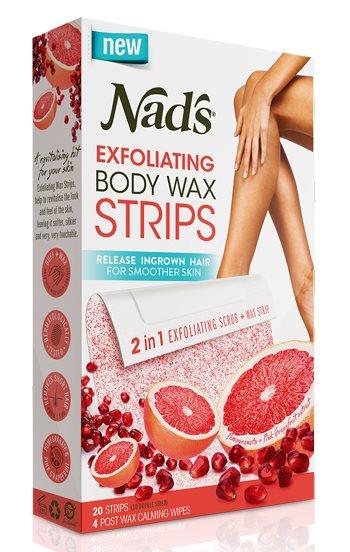 Nad's Exfoliating Body Wax Strips X 20