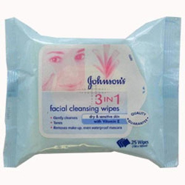 Johnson's Daily Essentials Facial Cleansing Wipes Dry Skin X 25
