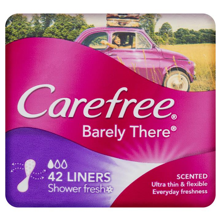 Carefree Liners Barely There Breathable Scented X 42