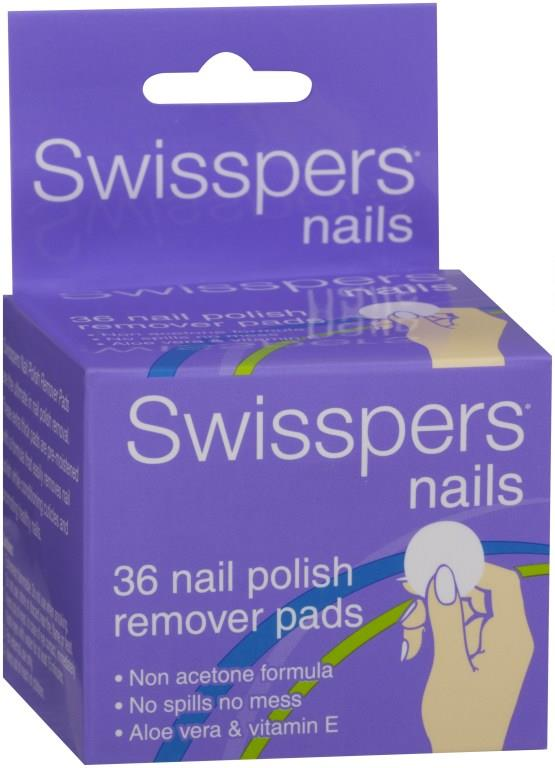 Swisspers Nail Polish Remover Pads X 36