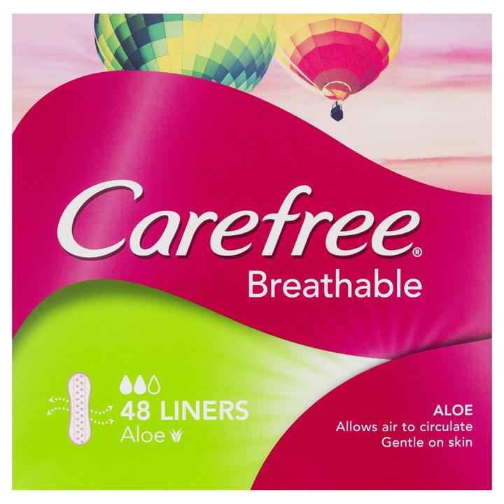 Carefree Liners Breathable With Aloe X 48