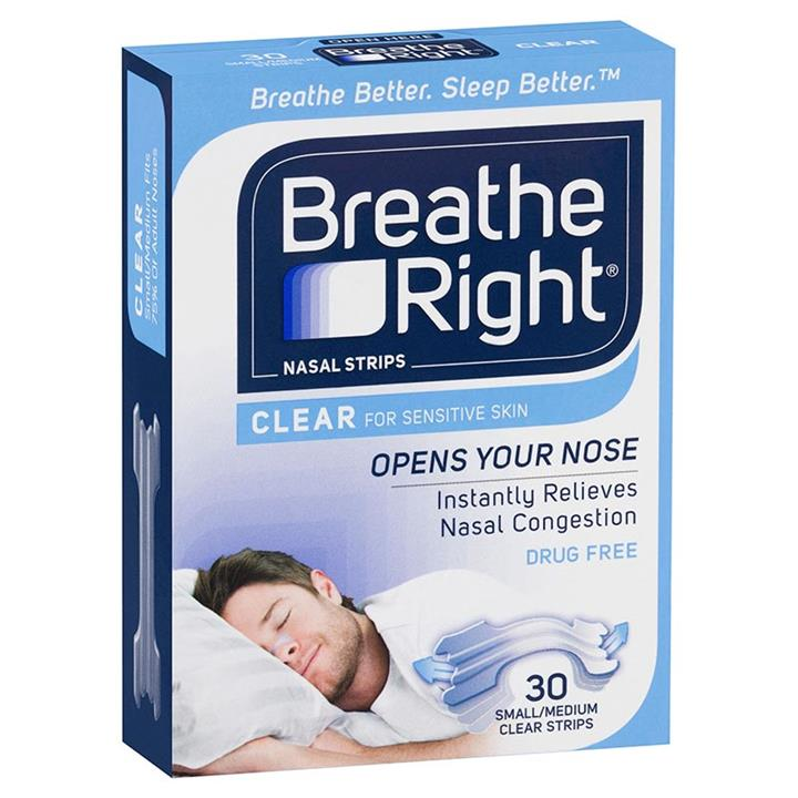 Breathe Right Nasal Strips Clear Regular X 30