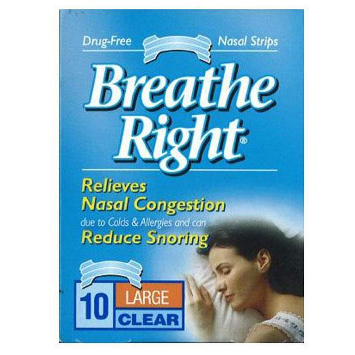 Breathe Right Nasal Strips Clear Large X 10