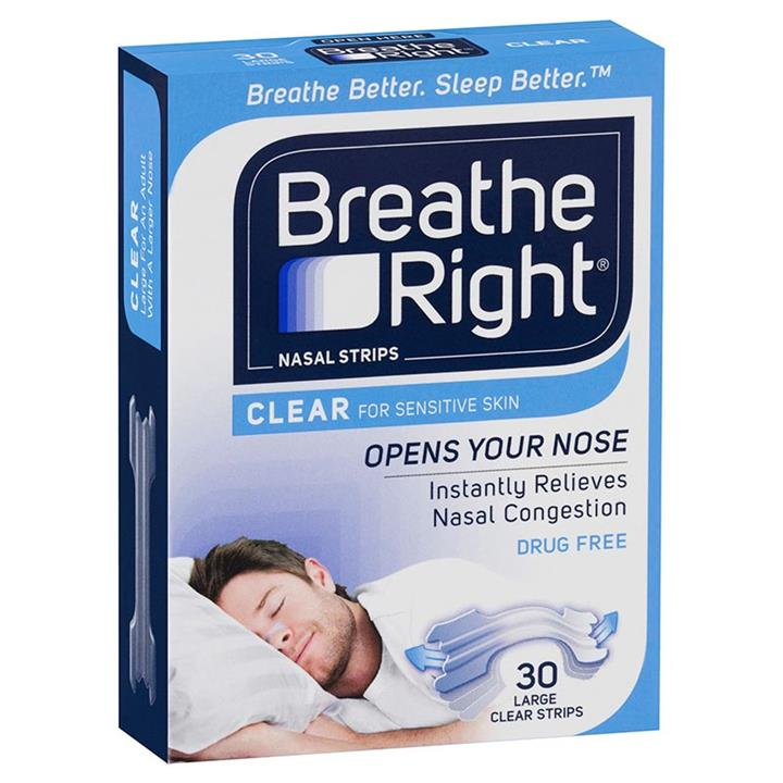 Breathe Right Nasal Strips Clear Large X 30