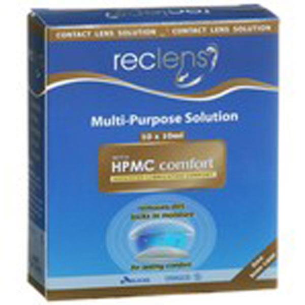 Reclens Multi Purpose Solution 2 X 500ml (With Lens Case)