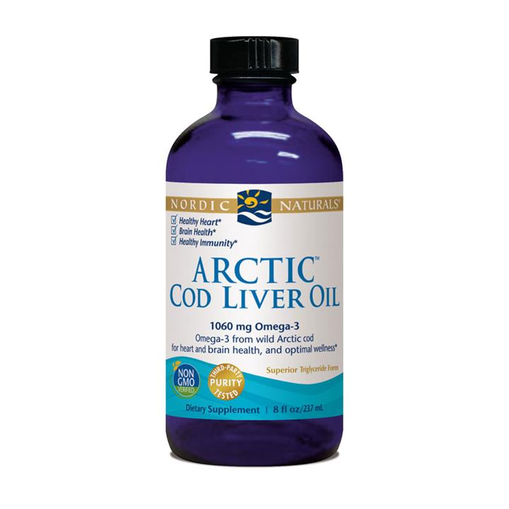 Nordic Naturals Arctic Cod Liver Oil Plain Unflavoured 237ml