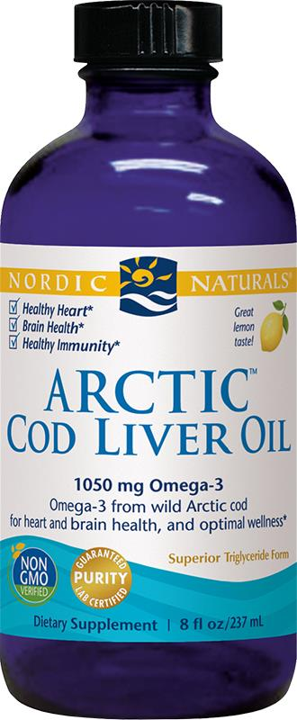 Nordic Naturals Arctic Cod Liver Oil Lemon Flavour 237ml