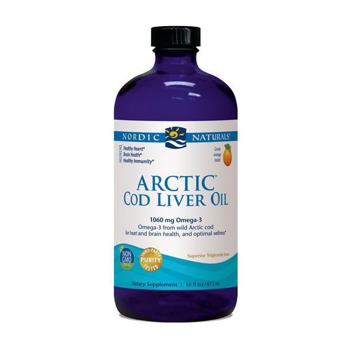 Nordic Naturals Arctic Cod Liver Oil Orange Flavour 473ml