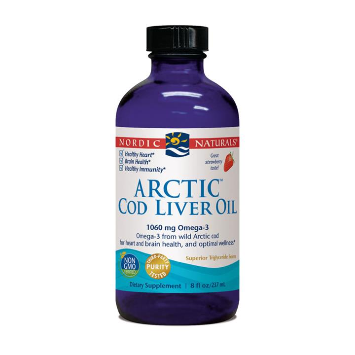 Nordic Naturals Arctic Cod Liver Oil Strawberry Flavour 237ml