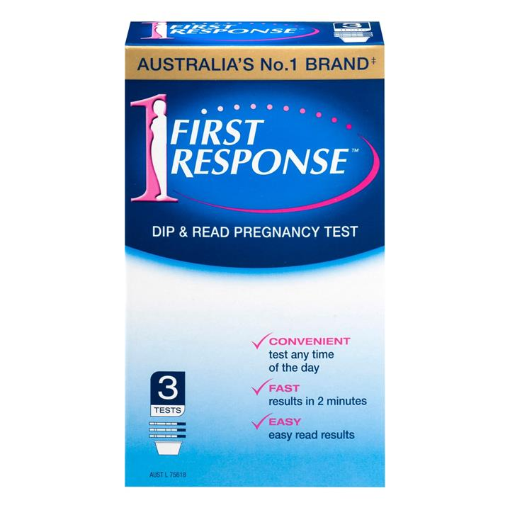 First Response Pregnancy Tests (Dipstrips x 3)
