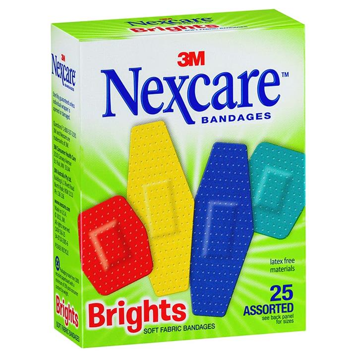 Nexcare Brights Soft Fabric Bandages Assorted X 25