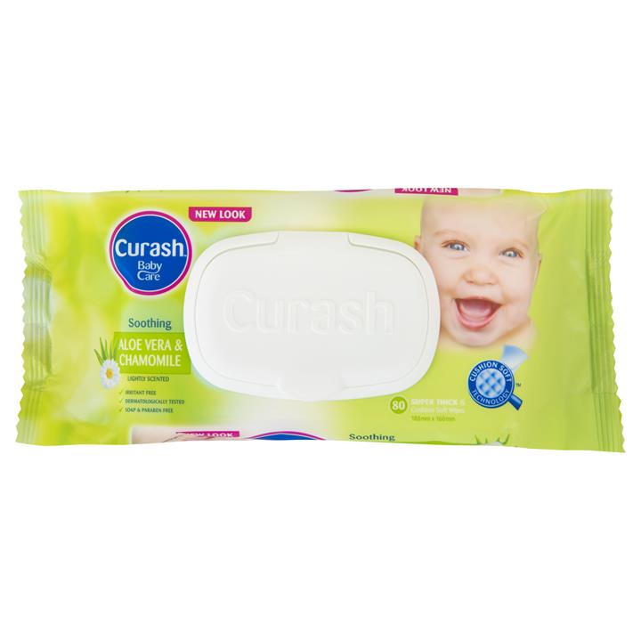 Curash Baby Wipes Soothing X 80