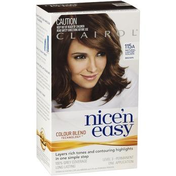 Clairol Nice And Easy 115A Natural Lighter Golden Brown
