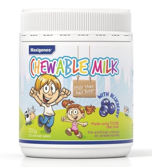 Maxigenes Chewable Milk with Blueberry Tab X 150