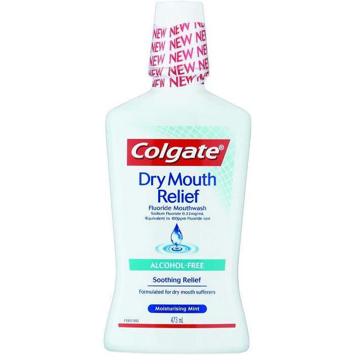 Colgate Dry Mouth Relief Fluoride Mouthwash 473ml