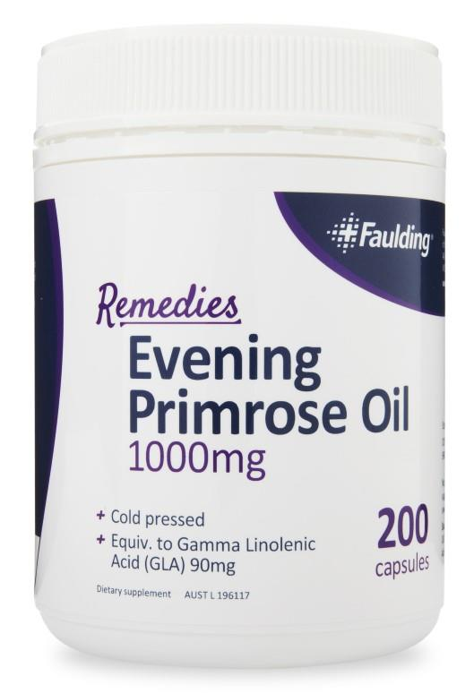 Faulding Remedies Evening Primrose Oil 1000mg Cap X 200