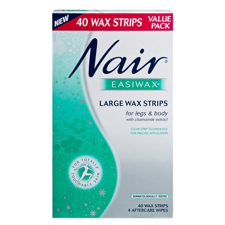 Nair Easiwax Wax Strips Large X 40