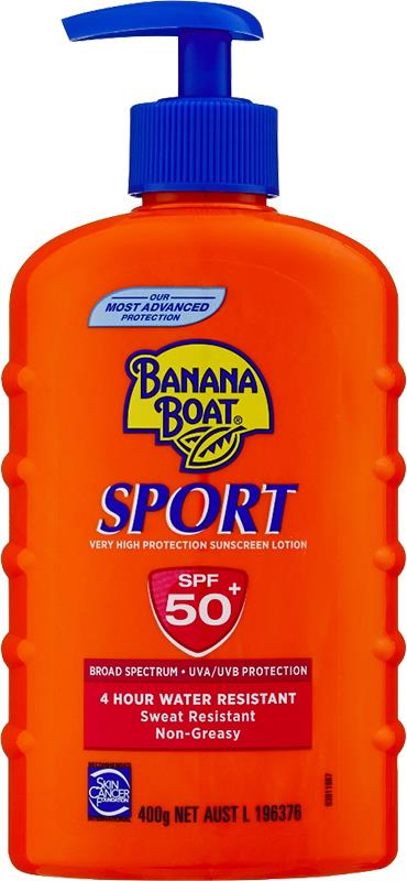 Banana Boat Sunscreen Lotion Sport SPF 50+ 400g