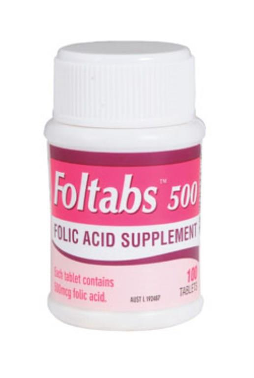 Foltabs 500mcg Tab X 100 (Generic for MEGAFOL 0.5)