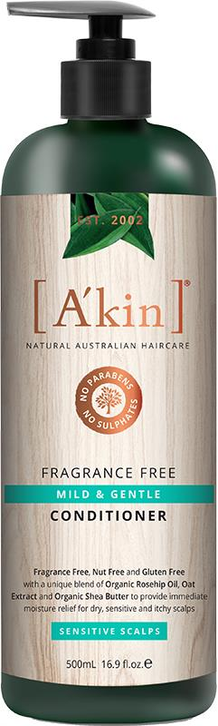 A'kin Conditioner For Sensitive Scalps Fragrance Free 500ml