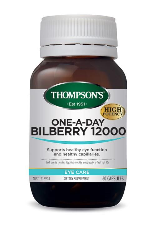 Thompson's One-A-Day Bilberry 12000mg Cap X 60