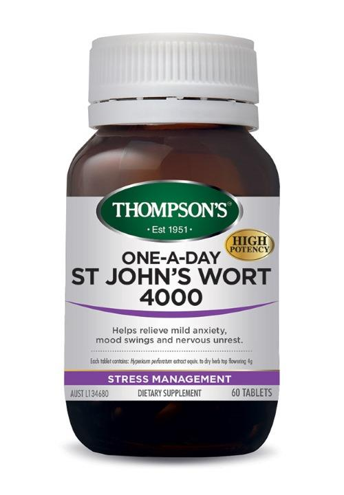 Thompson's One-A-Day St John's Wort 4000mg Cap X 60