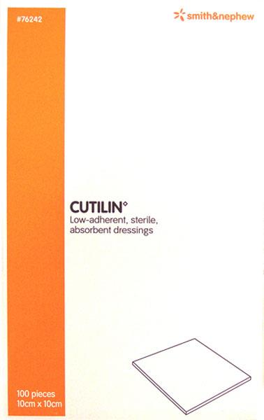 Cutilin Low-Adherent Dressing 10cm X 10cm X 100
