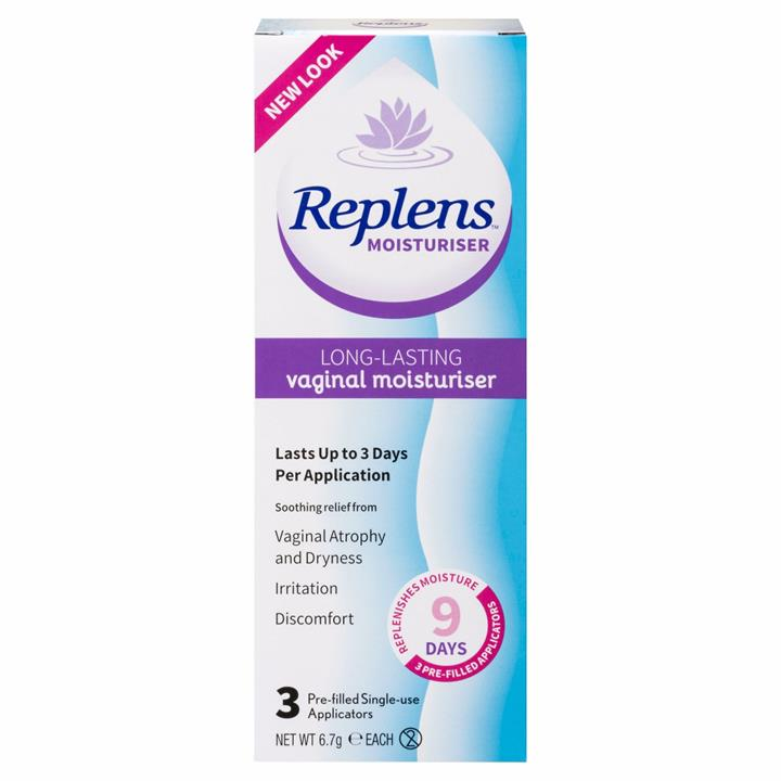 Replens Vaginal Moisturiser Applicators X 3