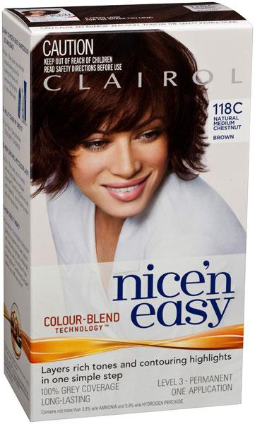 Clairol Nice And Easy 118C Natural Medium Chestnut Brown