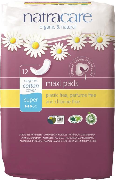 Natracare Natural Pads Super X 12