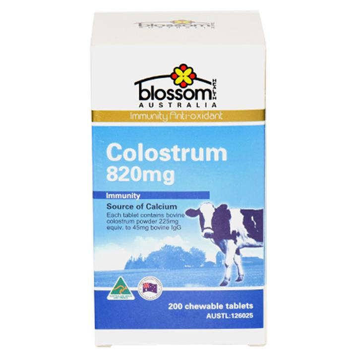 Blossom Health Colostrum 820mg 45 IgG Tab X 200