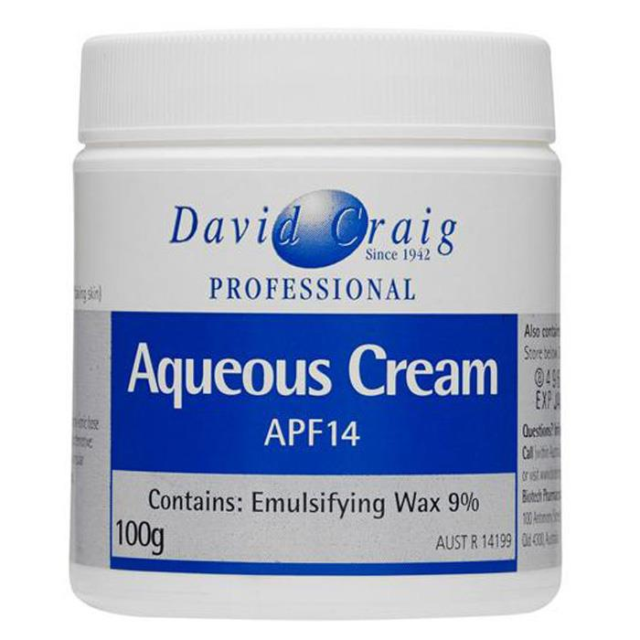 David Craig Aqueous Cream APF14 100g