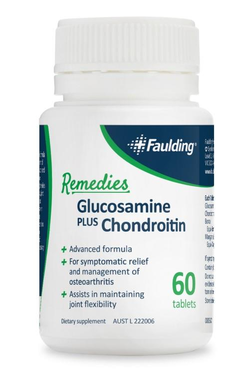 Faulding Remedies Glucosamine & Chondroitin Tab X 60