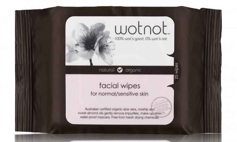 wotnot Facial Wipes For Sensitive Skin X 25